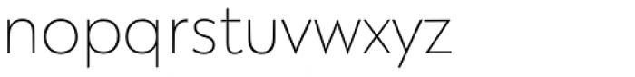 Galatea Thin Font LOWERCASE