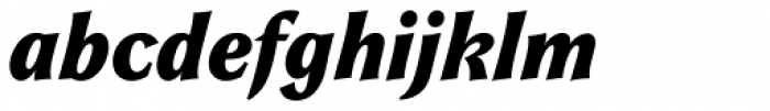 Galathea BQ Bold Italic Font LOWERCASE