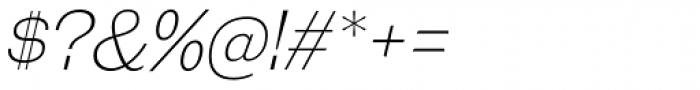 Galderglynn Esq. ExtraLight Italic Font OTHER CHARS