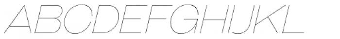 Galderglynn Esq. UltraLight Italic Font UPPERCASE