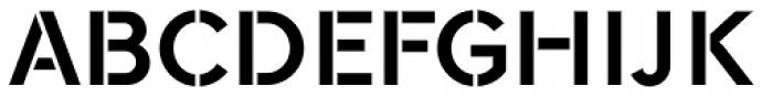 Galeb Stencil Bold Font UPPERCASE