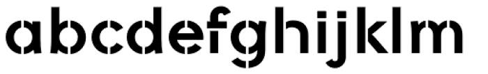 Galeb Stencil Bold Font LOWERCASE