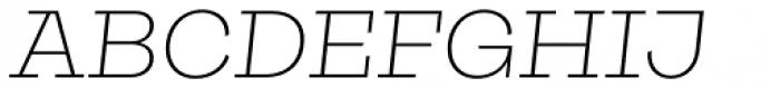 Galeria Extra Light Italic Font UPPERCASE