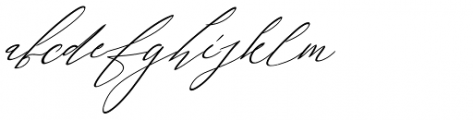 Galgadot Italic Font LOWERCASE