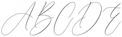 Galisha Regular Font UPPERCASE