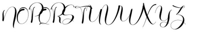 Galista Regular Font UPPERCASE