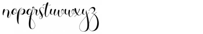 Galista Regular Font LOWERCASE