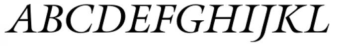 Galliard Italic Font UPPERCASE