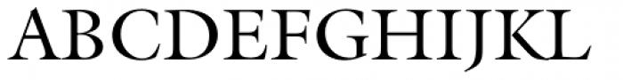 Galliard Roman Font UPPERCASE