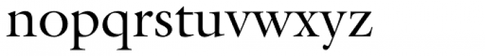 Galliard Roman Font LOWERCASE
