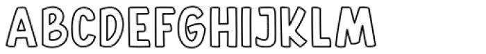 Gallicide Outline Font UPPERCASE