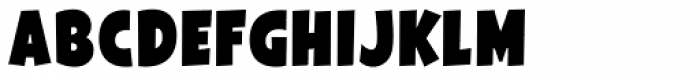 Galpon Black Font LOWERCASE