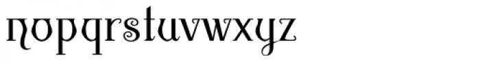 Gambit Nouveau SG Regular Font LOWERCASE