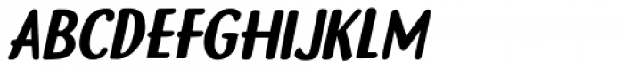 Gamboge Italic Font LOWERCASE