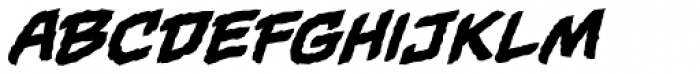 Gamma Rays BB Italic Font LOWERCASE