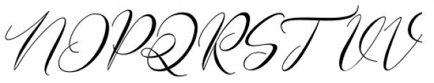 Gamos Italic Font UPPERCASE