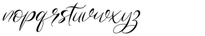 Gamos Italic Font LOWERCASE
