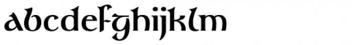 Gandalf Medium Font LOWERCASE