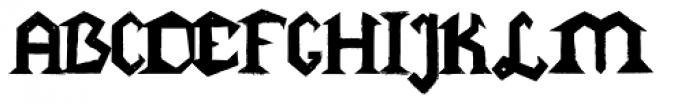 Gang Font UPPERCASE