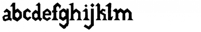 Gang Font LOWERCASE