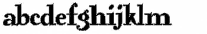 Gans Antigua Lined Font LOWERCASE