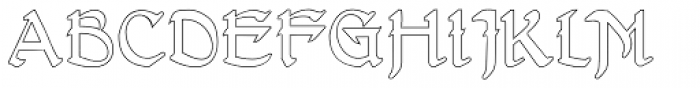 Gans Antigua Manuscrito Outline Font UPPERCASE