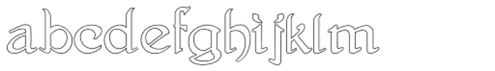 Gans Antigua Manuscrito Outline Font LOWERCASE