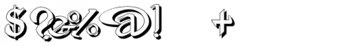 Gans Antigua Manuscrito Shadow Font OTHER CHARS