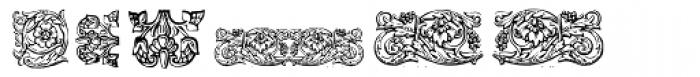 Gans Classic Fleurons Font LOWERCASE
