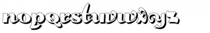 Gans Fulgor Humanista Shadow Font LOWERCASE