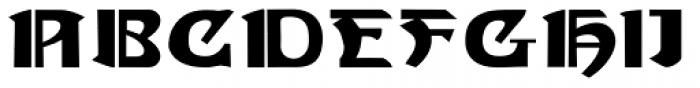Gans Gotico Globo Expanded Font UPPERCASE
