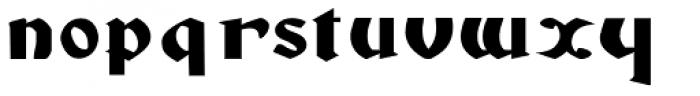 Gans Gotico Globo Expanded Font LOWERCASE