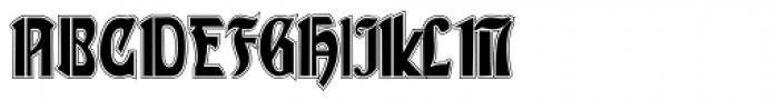 Gans Gotico Globo Lined Font UPPERCASE