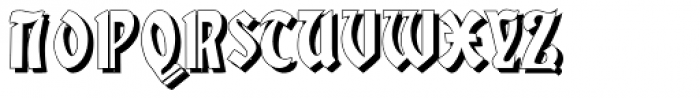 Gans Gotico Globo Shadow Font UPPERCASE