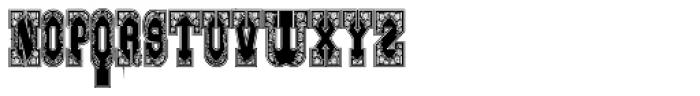 Gans Italiana Decorativa Lined Font LOWERCASE