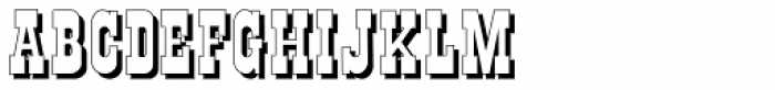 Gans Italiana Shadow Font LOWERCASE