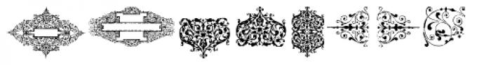 Gans Neoclassic Fleurons Font UPPERCASE