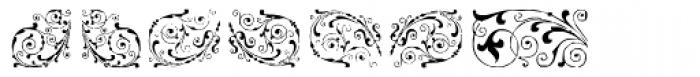 Gans Neoclassic Fleurons Font LOWERCASE