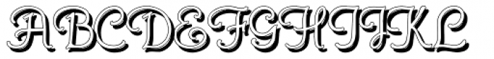 Gans Royality Shadow Font UPPERCASE