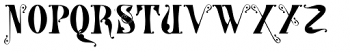 Gans Tipo Adorno Solid Font UPPERCASE