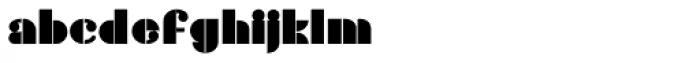 Gans Titania Bold Font LOWERCASE