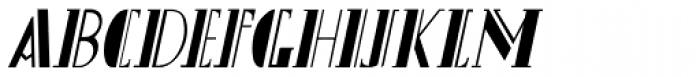 Gans Titania Italic Font UPPERCASE
