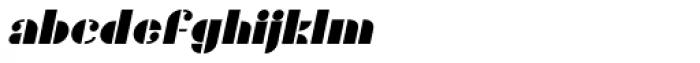 Gans Titania Italic Font LOWERCASE