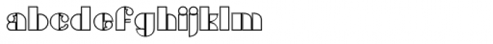 Gans Titania Outline Font LOWERCASE