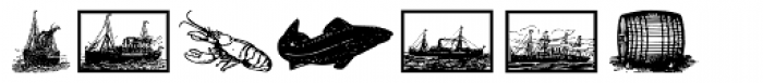 Gans Vessels Fishes Medium Font UPPERCASE