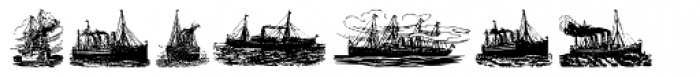 Gans Vessels Fishes Medium Font LOWERCASE