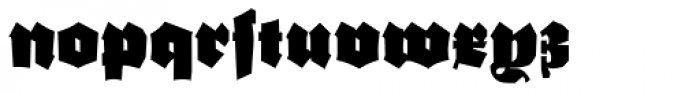 Ganz Grobe Gotisch D Font LOWERCASE