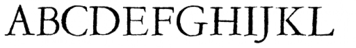 Garamold Font UPPERCASE