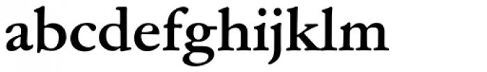 Garamond ATF Text Bold Font LOWERCASE