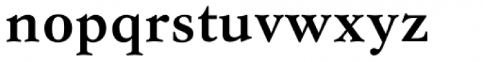 Garamond Antiqua Pro Demibold Font LOWERCASE